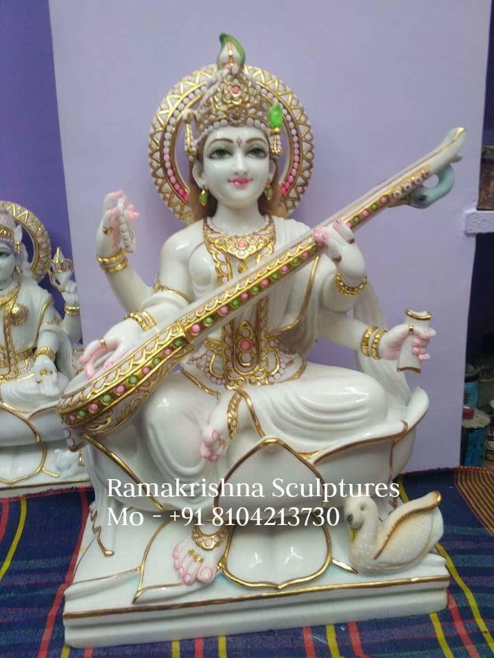 Marble Saraswati Statue Online Goddess Idol Manufacturer