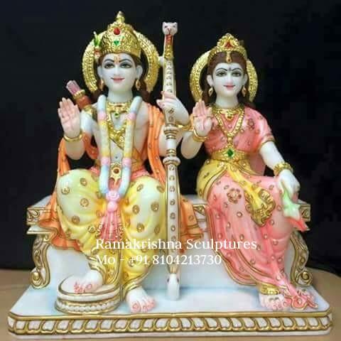 Marble Ram Sita Murti