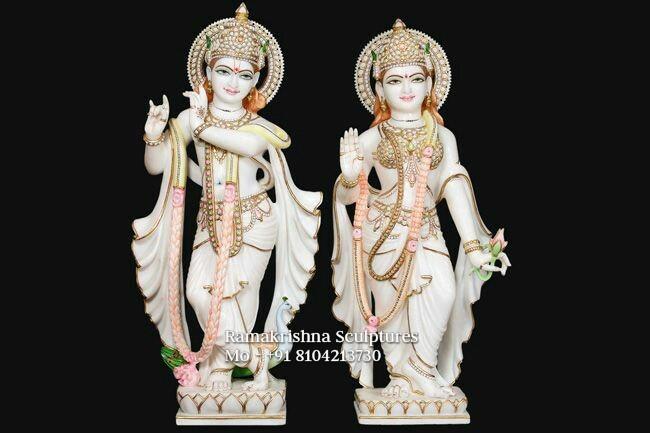 Radha Krishna Marble murti