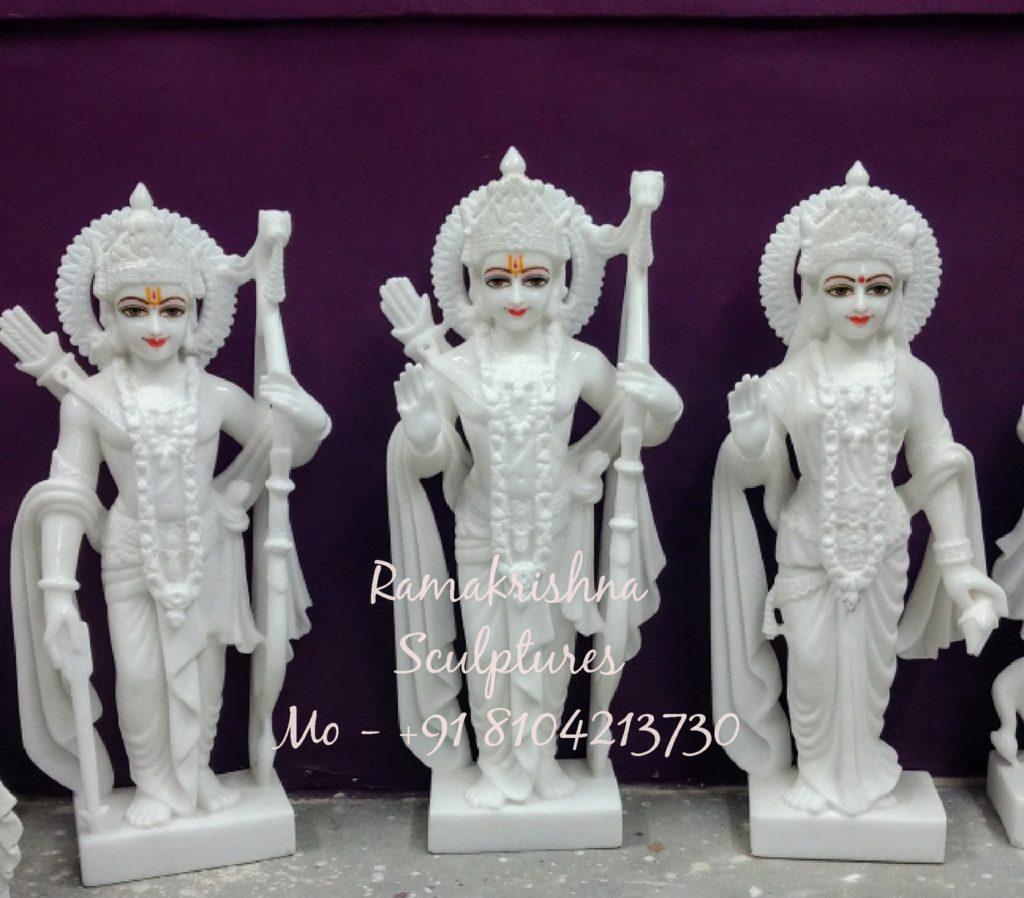 White Marble Ram Darbar Murti