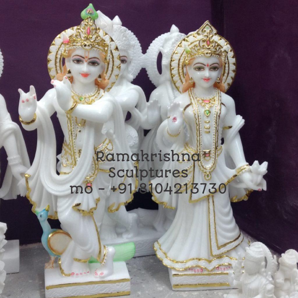 RadhaKrishna marble murti