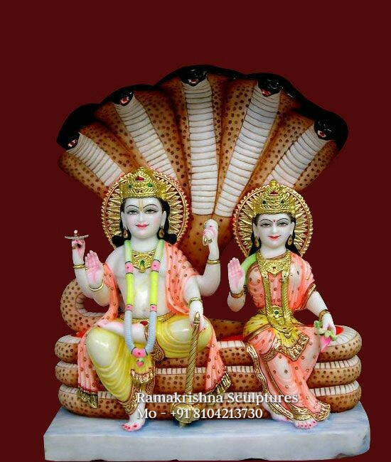 Marble Vishnu Laxmi