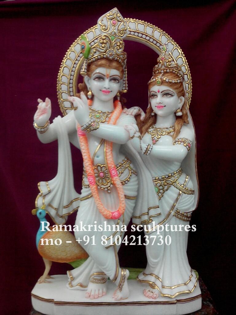 Radha Krishna Marble statue 1foot