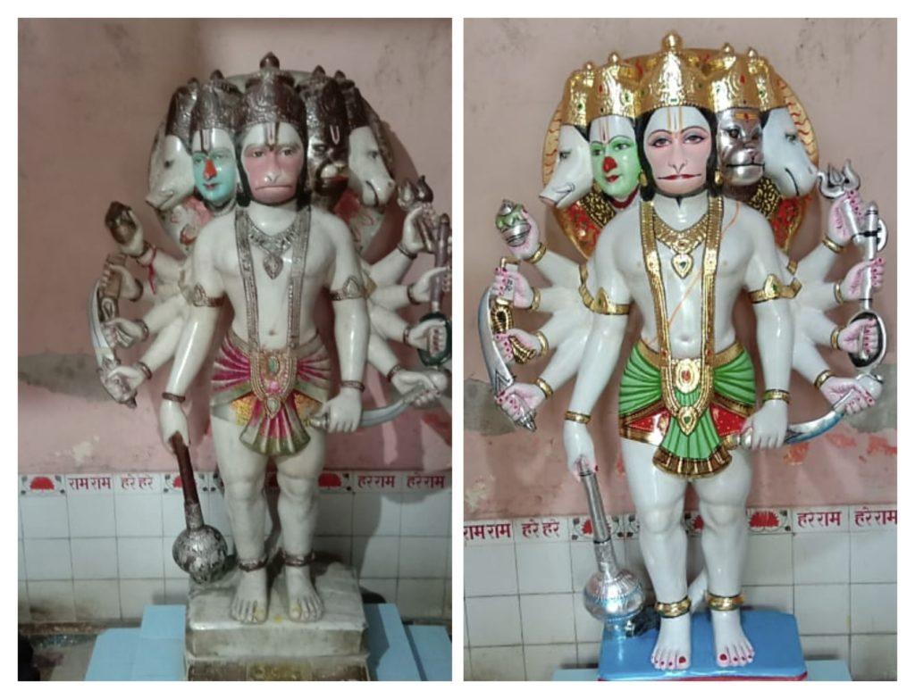repainting of old murti