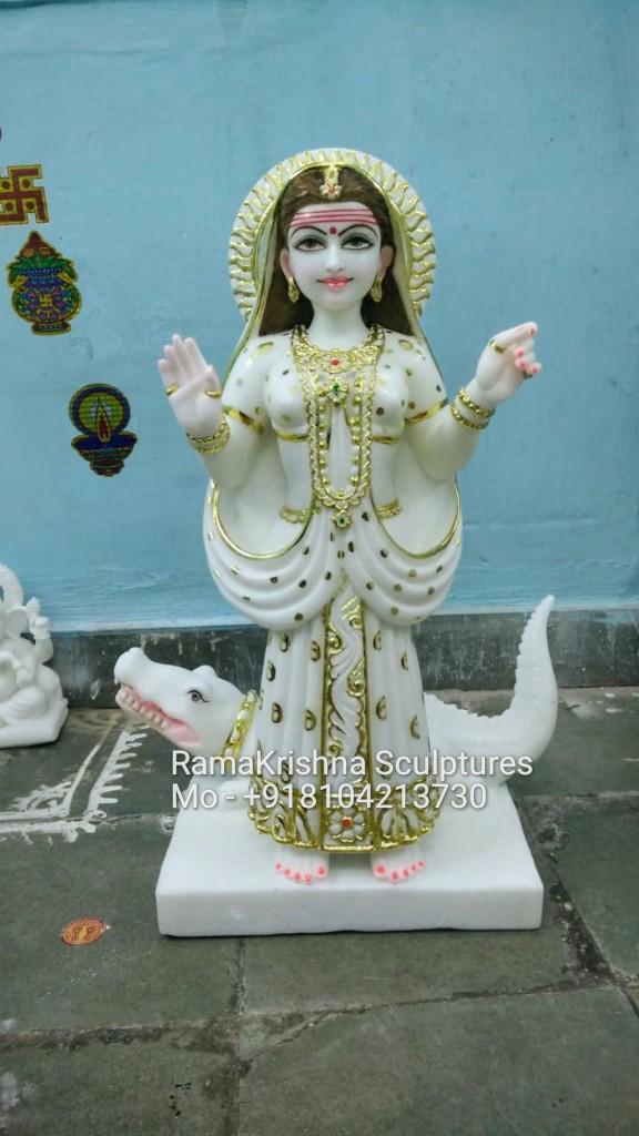 Khodiyaar marble Statue