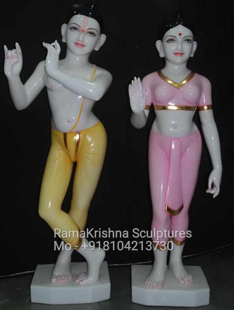 ISKCON Radha Krishna Marble Idols