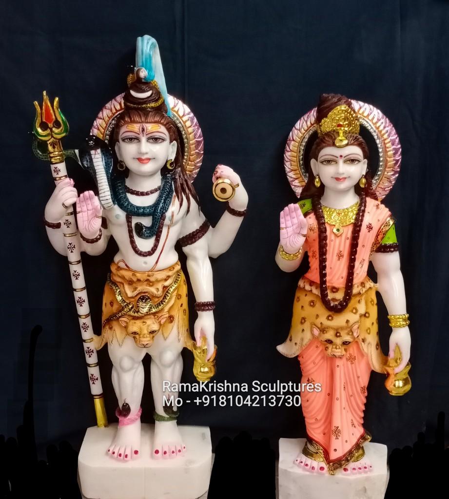 Standing Shiv Parvati statue