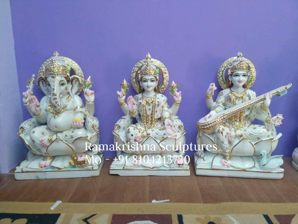 Ganesh laxmi Saraswati statue