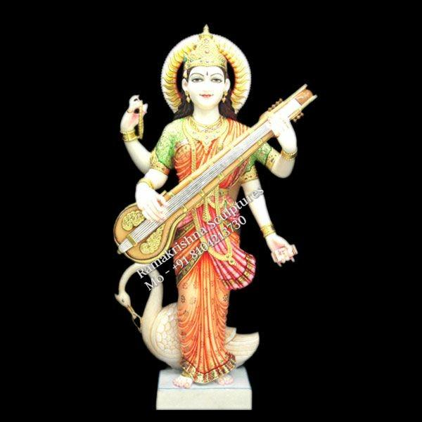 saraswati marble murti