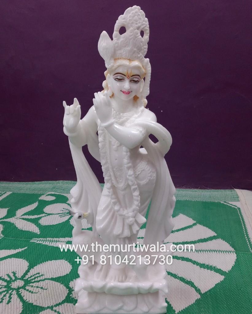 krishna marble idol