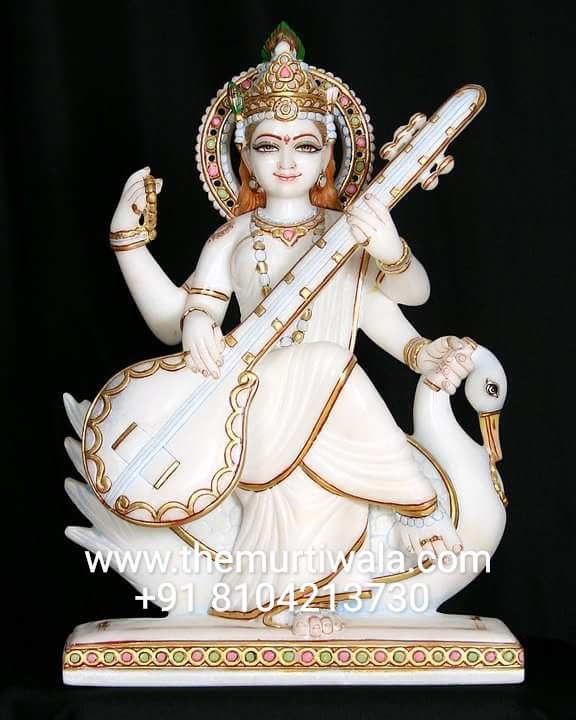 Goldplated Saraswati Statue