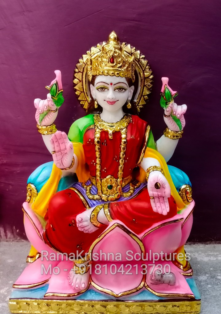 Marble Lakshmi Idol