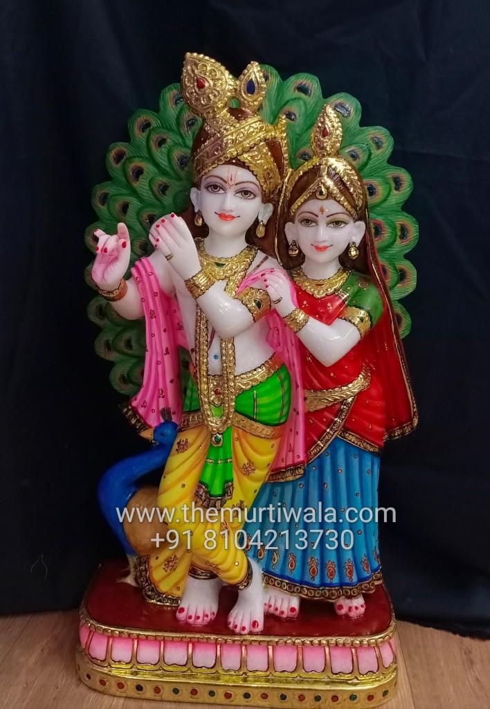 beautiful radha krishna idols