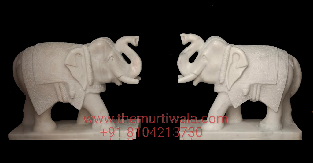 elephant statue marble