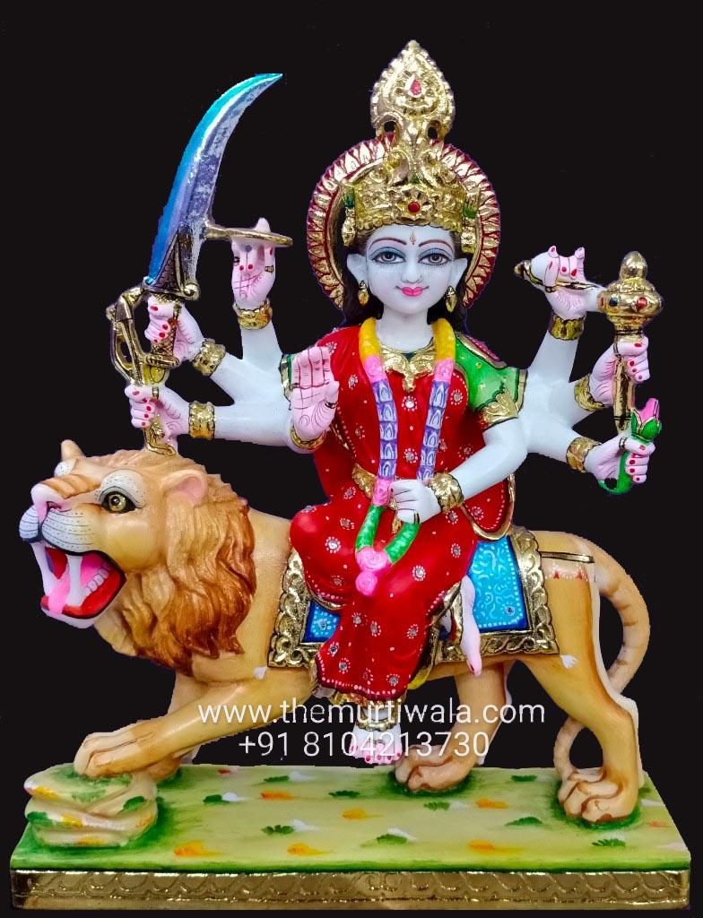 Durga mata marble murti 1ft