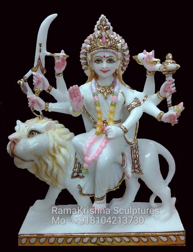 goddess durga marble idol