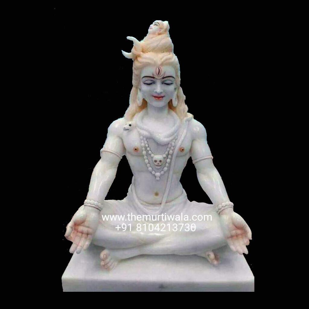 meditating lord shiva idol