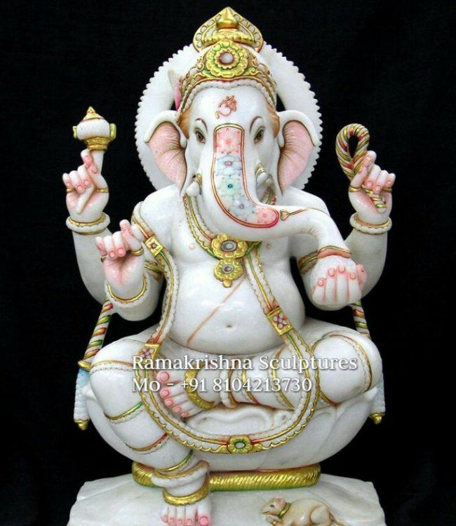 Marble Ganesha Idol for Home