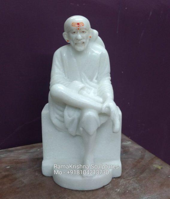 Small Sai Baba Marble Statue